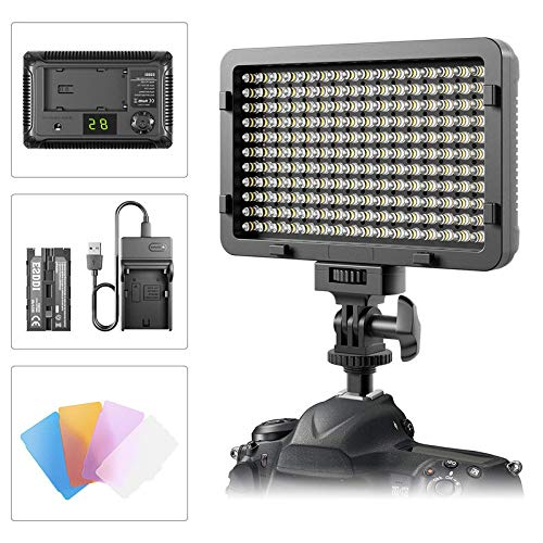 LED Video Light,176 LED Ultra Bright Dimmable Camera Panel ()