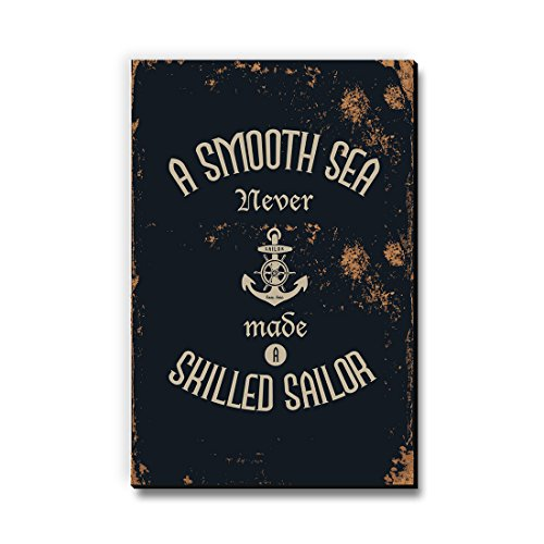 Seven Rays A Smooth Sea Never Made a Skilled Sailor Multipurpose Fridge Magnet for Home/Kitchen/Office