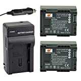 DSTE® 2x BP-808 Battery + DC26 Travel and Car Charger Adapter for Canon FS406 HFM400 HF100 M300 S100 S200 FS36 FS37 HF200 HFS11 HF100 HF20 HG21 Camera as BP-809 BP-819 BP-827