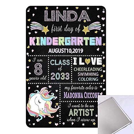 Amazon.com: Qian - Cartel de pizarra con diseño de unicornio ...