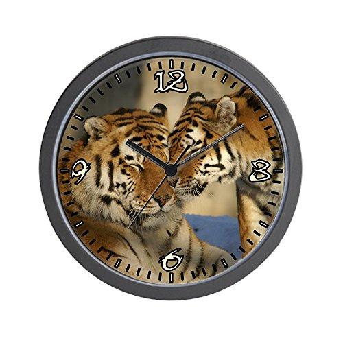 (Wall Clock Nuzzling Tiger Love)