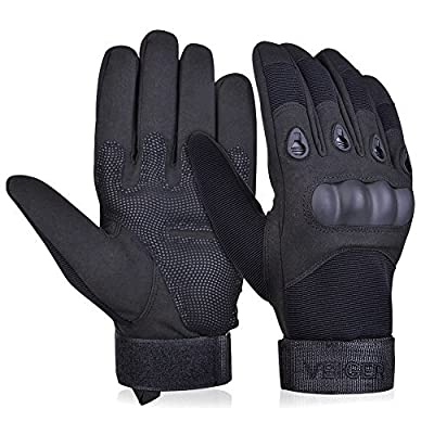 Vbiger Military Tactical Gloves Outdoor Full Finger Workout Gloves Airsoft Cycling Motorcycle Gloves
