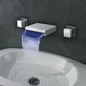 led bathroom sink faucet stores on contemporary widespread wall mount waterfall led 19171