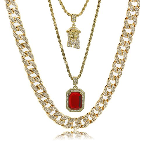 Gold Color Tone Brass Fully CZ Iced Out 15mm 16' Hip Hop Miami Cuban Chain...