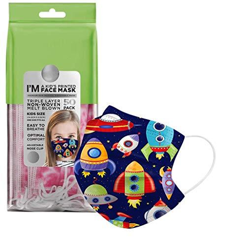 Tanglang 50//100 Pcs New Disposable face Macks Series 3-Layer Printing Fashion Childrens Disposable face Shield