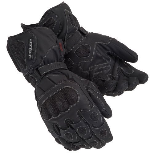 Cortech 'Scarab' Black Textile Winter Gloves - 3X-Large ()