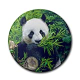 Panda Wallpaper1 Round Absorbent Coaster - Protect Furniture From Water Marks & Damage - Good Grip, Deep Tray - For Bar, Home, Office, Cool Unique For Fathers