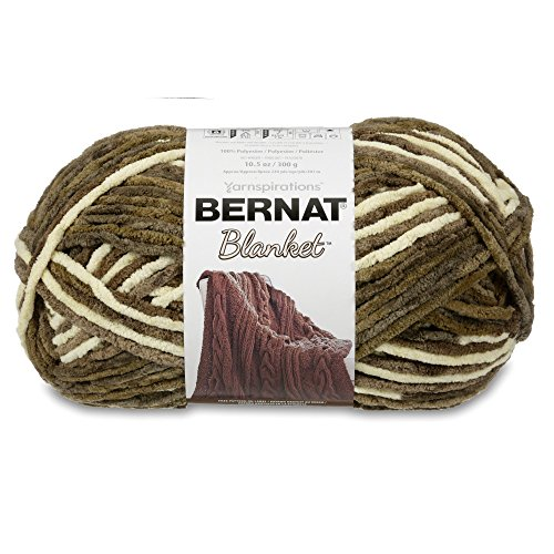 Bernat 16111010107 Blanket Yarn, 10.5 Ounce, Gathering Moss, Single (Chenille Knitting Patterns)