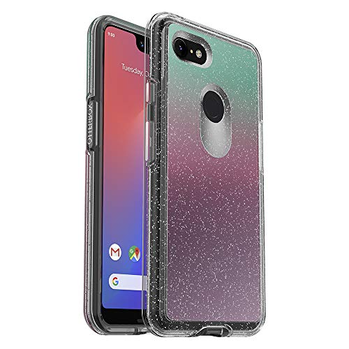 OtterBox Symmetry Clear Series Case for Google Pixel 3 XL - Retail Packaging - Gradient Energy (Silver Flake/Clear/Gradient Energy)