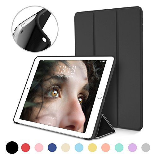 iPad Mini Case for iPad Mini 3 / 2 / 1, DTTO Ultra Slim Lightweight Smart Case Trifold Cover Stand with Flexible Soft TPU Back Cover for iPad Apple Mini, Mini 2 , Mini 3 [Auto Sleep/Wake],Black
