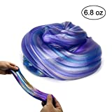Jumbo Galaxy Slime Satisfying Fluffy Slime Scented Stress Relief Sludge Toy for Kids and Adults Soft and Non-Sticky 6.8 oz