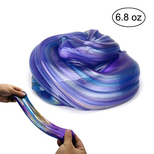 ESSENSON Jumbo Galaxy Slime Satisfying Fluffy Slime Scented Stress Relief Sludge Toy for Kids and Adults Soft and Non-sticky 6.8 OZ