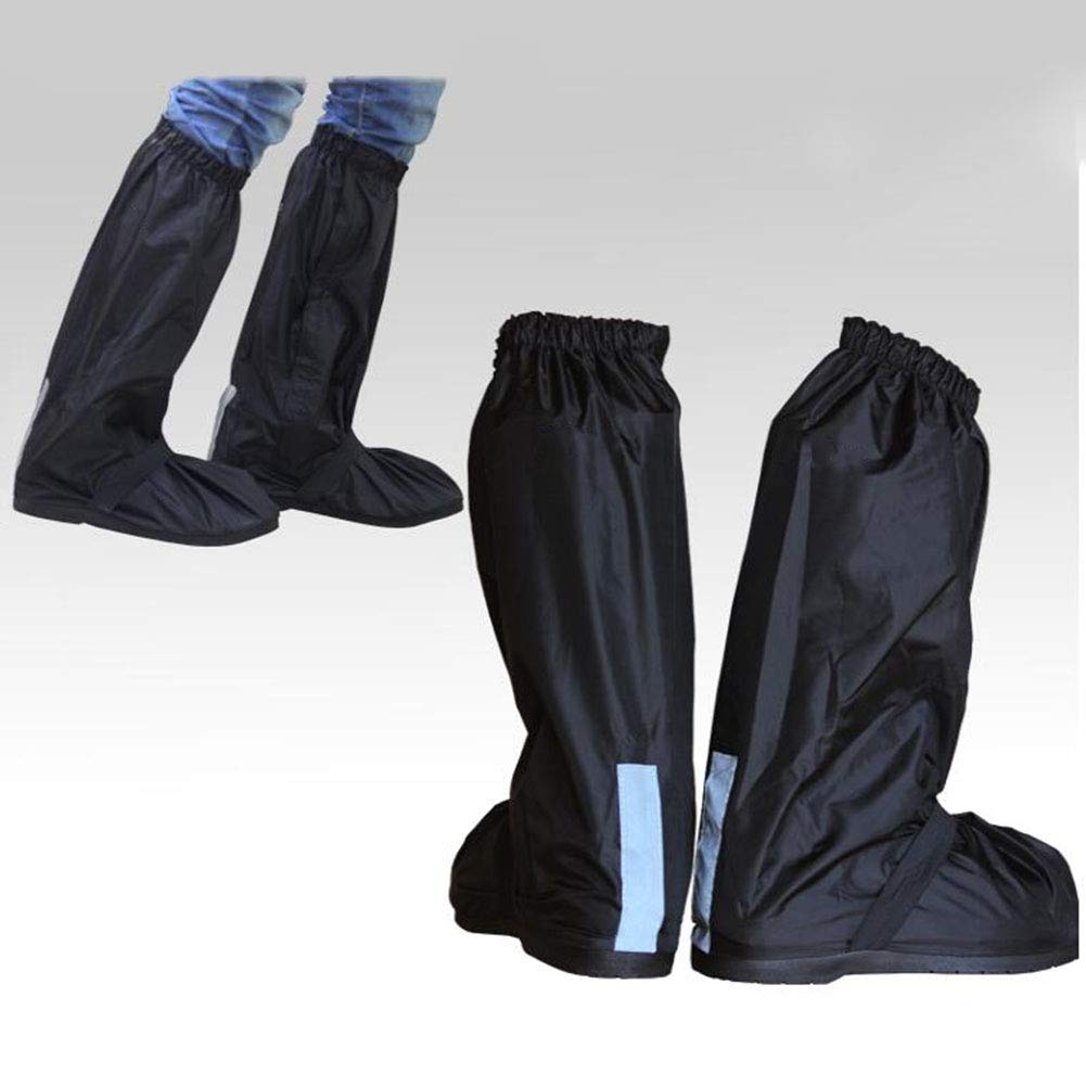 MLL Unisex Waterproof Overshoes Anti-Slip Reusable Rain Boot Shoe Cover Boots Cover Protection with Rainproof Zippered for Outdoor Rainstorm Snowstorm Motorcycle Bike 2pair,M