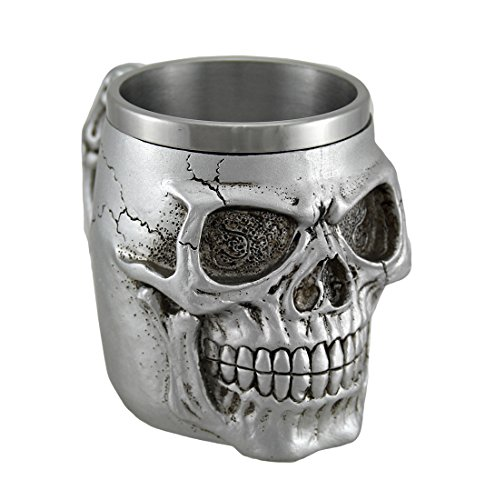Silver Skull Coffee Mug