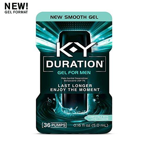 K-Y Duration Gel for Men - Male Genital Desensitizer 0.16 oz (36 Pumps), Condom Compatible Endurance Enhancing Delay Gel to Help Men Last Longer in Bed