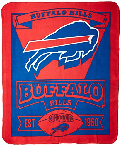 Nfl Buffalo Bills Marque Printed Fleece Throw  50 Inch By 60 Inch