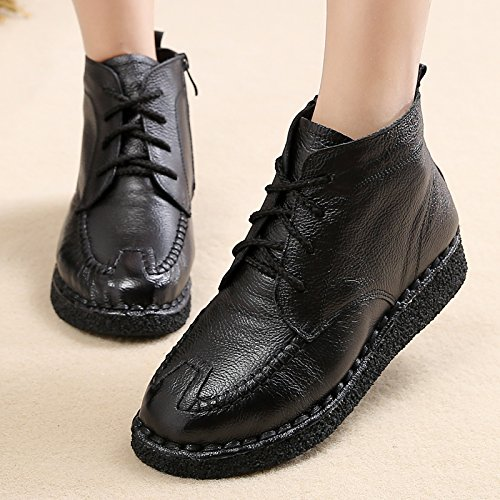 Bottes Ruban Chaussures L'Hiver Le De Vieux Neige Souliers De Plat Dans Velours Des KHSKX Chaud Mère Avec black 40 Chaussures 5pnvRw