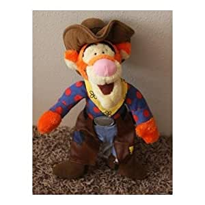 "Disney Winnie the Pooh Rodeo Cowboy Tigger with Chaps 11"" Plush Bean Bag Doll"