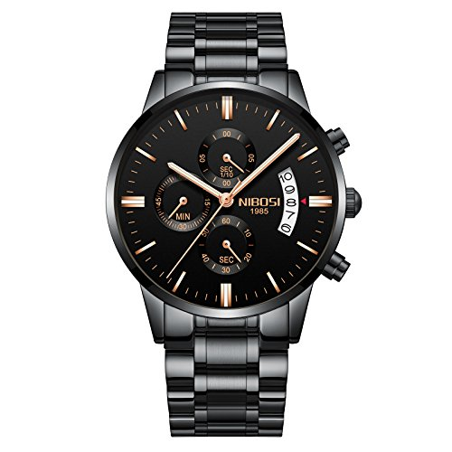 NIBOSI-Mens-Watches-Chronograph-Waterproof-Military-Quartz-Luxury-Fashion-Casual-Dress-Wristwatches-For-Men-Rose-Gold-Hands-Stainless-Steel-Band-2309-QHMDgd