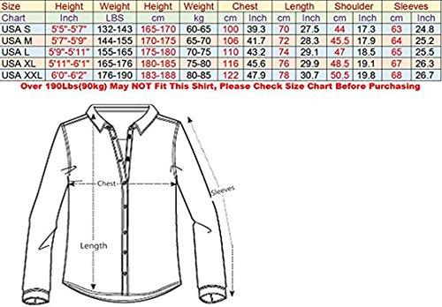 jeansian Herren Freizeit Hemden Shirt Tops Mode Langarmshirts Slim Fit 8312 (US XL, Z013_White)