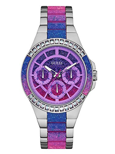 GUESS-Womens-Silver-Tone-and-Ombre-Analog-Watch