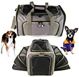 Cheap PETS GO2 Pet Carrier for Dogs & Cats – Airline Approved Premium Expandable Soft Animal Carriers – Portable Soft-Sided Air Travel Bag – Best for Small or Medium Dog and Cat (Grey)