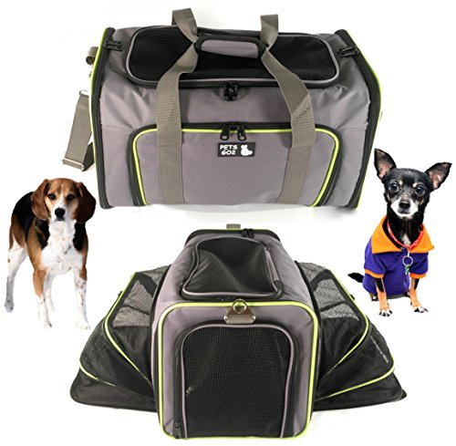 Pet Carrier for Dogs & Cats - Airline Approved Premium Expandable Soft Animal Carriers - Portable Soft-Sided Air Travel Bag - Best for Small or Medium Dog and Cat  Fits Under Front Airplane Seat
