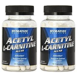 Dymatize Nutrition Acetyl L-Carnitine 90 Capsules [2 Pack]