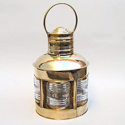 (Brass Ship'S Lighthouse Anchor Lantern Oil Lamp 17