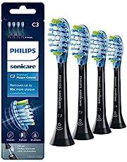 Philips Sonicare C3 Premium PlaqueDefence - 4 Stuks - Voor grondige tandplakverwijdering - 4 keer meer contact met tandoppervlak - Past op alle Sonicare tandenborstels - BrushSync koppeling - HX9044/33