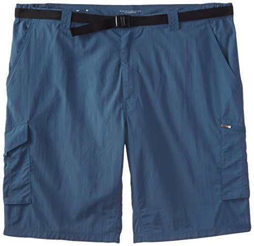 Columbia Sportswear Men's Big and Tall Silver Ridge Cargo Shorts, Ever Blue, 36 x 10