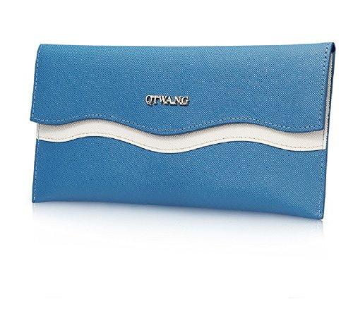FRAZILL Damen Handtaschen Damen Leder Clutches Damen Kleinlederwaren Damen Geldbörsen Hohe Qualität QW8623