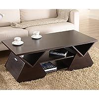 Metro Shop Furniture of America Melika Espresso Geometric Coffee Table-Espresso