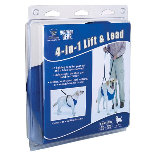Guardian Gear Nylon Lift and Lead 4-In-1 Dog Harness, X-Large, Blue, My Pet Supplies