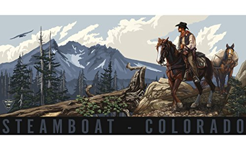 Northwest Art Mall PAL-4873 MCH Steamboat Springs Colorado Cowboy Print by Artist Paul A. Lanquist, 11