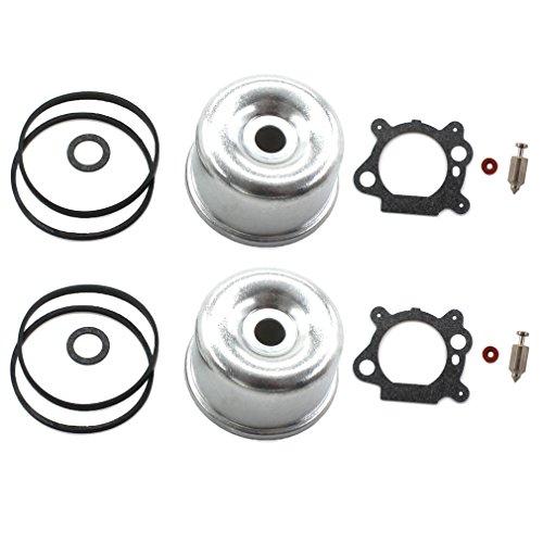 AISEN Pack of 2 Carburetor INTEK Float Bowl Gasket Float Valve Needle SEAT KIT for Briggs & Stratton 796611 493640 398191 795629 272653 272653S 398188 281144 20-141-1 ()