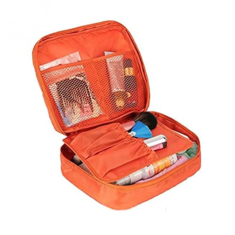 CARRY TRIP Multi Pouch Cosmetic Makeup Toiletry Bag Travel Kit Organizer Pouch  Orange