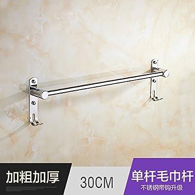 Estética única de Premium moda baño Toalla acero inoxidable estantes colgar accesorios de baño de toalla de baño WC de largo toallas toalla bares,30CM ...