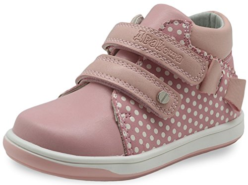 Apakowa Kids High Top Casual Sneakers Toddler Girls Ankle Boots (Color : Pink, Size : 5 M US Toddler)]()