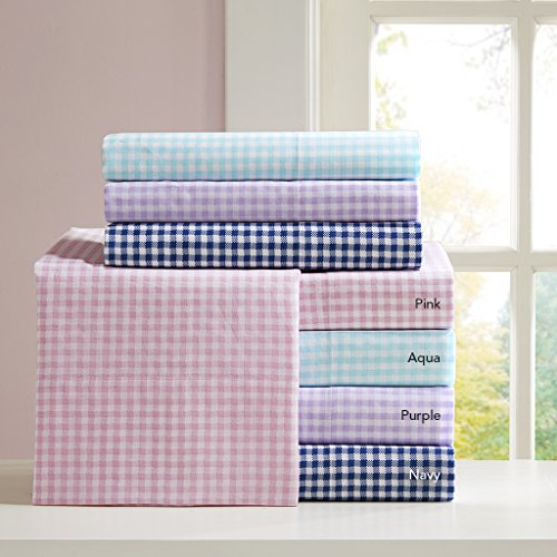 Gingham Cotton Sheet Pink Full product image