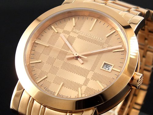 SALE! Authentic Burberry Heritage LUXURY Mens Unisex Womens Rose Gold Watch Date Dial BU1864