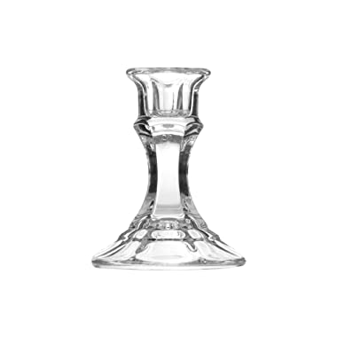 Libbey 4  Clear Glass Candleholder, Set of 12