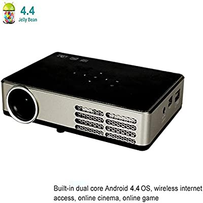 Mini HD Proyector 3d, Wi-Fi, Android 4.4 proyector DLP, 1080p ...