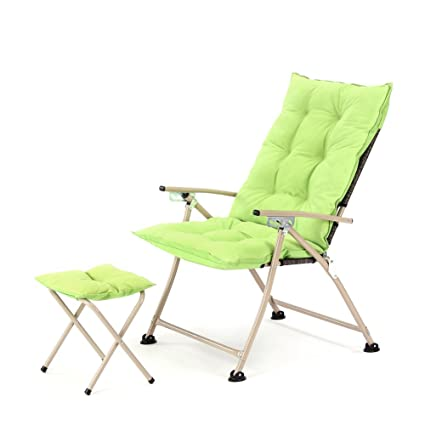 Beau CampLand Deluxe Padded Reclining Chair With Footrest Adjustable Camping  Fishing Folding Cushion Relax Lazy Chair (