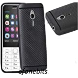 Efonebits Premium Dotted Black Rubberised Soft Back Case Skin Cover For Nokia 230 Dual Sim
