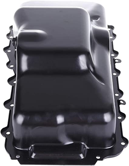 OCPTY Engine Oil Pan Steel Assembly Fits 1990-07 V6 3.3L 3.8L Cummins Diesel Caravan Dynasty Grand Plymouth Pickup Truck compatible with 264-205