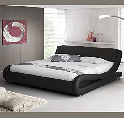 muebles bonitos Letto matrimoniale moderno di design Alessia nero ...