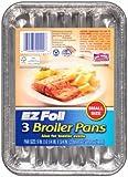3PK 9x6.25 Broiler Pan (small Disposable Broiler Pan)