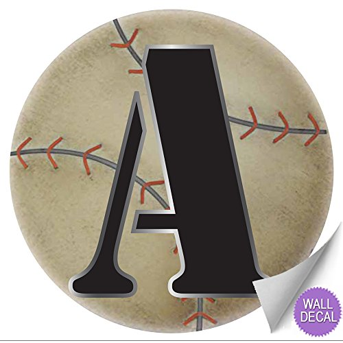 wall letters a baseball letter stickers alphabet initial vinyl sticker kids decals children room