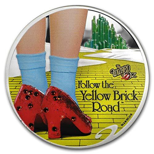 2017 DE 1 oz Proof Silver The Wizard of Oz (w/Box & COA) 1 OZ Brilliant Uncirculated
